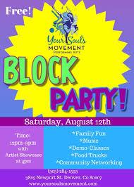 Block Party Flyer Block Party Flyer Your Souls Movement