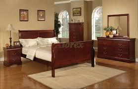 semi gloss sleigh like bedroom furniture set 170 in cherry xiorex