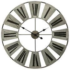 stylecraft roman numerals metal wall clock
