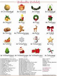 Deutsch Englisch Christmas Vocabulary Hq