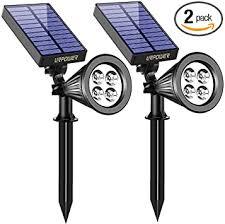 URPOWER Solar <b>Lights</b>, <b>2</b>-in-<b>1</b> Waterproof 4 <b>LED</b> Solar Spotlight ...