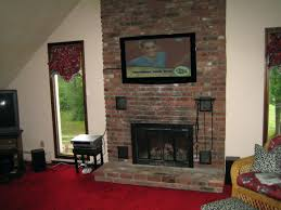 install tv above brick fireplace mounting studs over hide wires