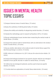 Issues In Mental Health Ocr A Level Psychology Psychology