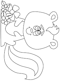 Small Picture Skunk Coloring Pages Coloring Home