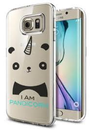 samsung galaxy s6 phone cases for girls. galaxy s6 edge clear case panda pandicorn meme cool funny teen girls unique designer clear transparent samsung phone cases for r