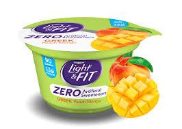 peach mango greek nonfat yogurt with zero artificial sweeteners