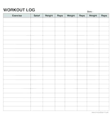 Work Out Charts Template Printable Weight Training Log Book Download Them Or Print