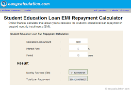 Free Loan Payment Calculator Excel Education Loan Repayment Calculator Calculator Spreadsheet