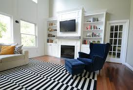 black and white rugs living room
