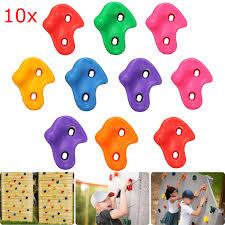 <b>10Pcs</b>/<b>Set</b> Plastic Colorful <b>Kids</b> Climbing Wall Rock Stones Holds ...