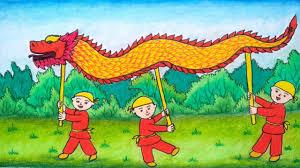 Barongsai memiliki sejarah ribuan tahun. Menggambar Barongsai Naga Cara Menggambar Dan Mewarnai Barongsai Belajar Menggambar Yang Mudah Youtube