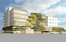 office block design. another uncharacteristically subdued verdant office building by gehry partners is on the way block design