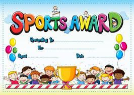 Kids Award Certificate Kids Sports Award Certificate School Merit Stickers