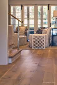 wide plank white oak flooring. Wide Plank White Oak Hardwood Floor By And Broad With Custom Stain | View Into Living Room Matching Stair Treads Discover More At Flooring I