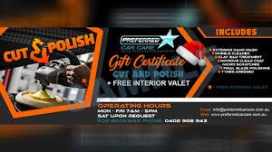 car detailing gold coast gift certificates