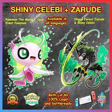 Official OKOYA Forest Pokemon Film Event Zarude & Shiny Celebi –  ThePokemartAC