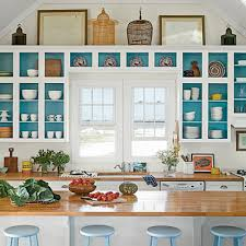 Try Painting Inside Your Cabinets Or Bookshelves For A Fun Pop Of Color