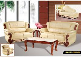cheap living room furniture. Perfect Living Khaki Leather Sofa U0026 Loveseat Intended Cheap Living Room Furniture