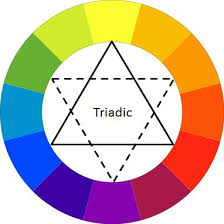 Triadic color scheme.