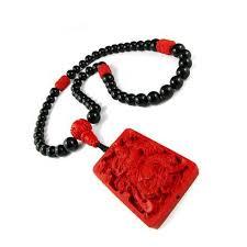 black onyx guan yu of war necklace