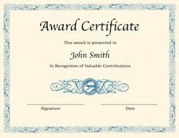 Printable Awards And Certificates Blank Award Certificate Templates For Word Printable Certificates