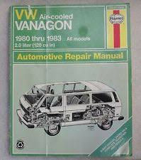 vanagon repair manual vw air cooled vanagon 1980 1983 all models repair manual in good condition