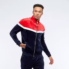 fila harry vintage style track jacket peacoat chinese red mens clothing lm1839af 410