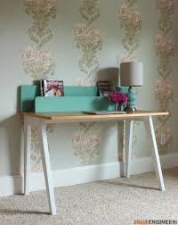 modern desk w organizer free diy plans