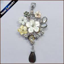 collares 2016 natural mother of pearl seashell hand carved flower chain necklace pendants vintage bijoux women