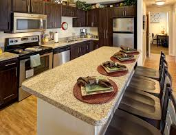 fully equipped kitchen at campus edge on uta blvd in arlington tx near the university