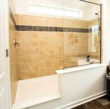 shower without door walk in showers no doors with glass wall and tile for bathroom wall