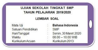 Kunci jawaban matematika kelas 5 halaman 52 dan 53. Soal Ujian Sekolah Online Bahasa Indonesia Smp Mts Tahun Pelajaran 2019 2020 Didno76 Com