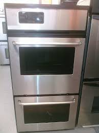 24 built in stainless steel double electric wall oven for captivating kitchen decor
