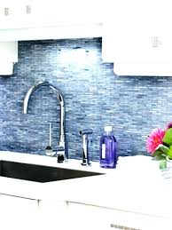 blue kitchen backsplash white