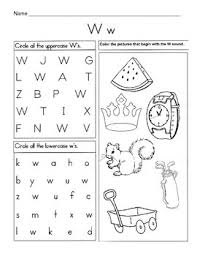 Free interactive exercises to practice online or download as pdf to print. 5 Letter W Worksheets Alphabet Phonics Worksheets Letter Of The Week
