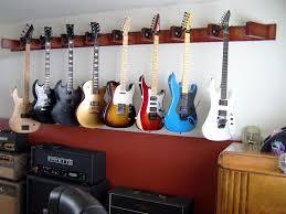 wooden guitar wall hanger