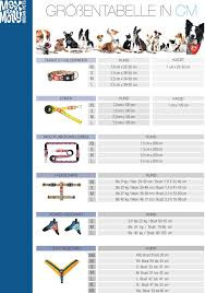 Sizing Chart Dog And Cat Accessoires Max Molly Urban Pets