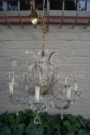 1950s italian 8 branch cut glass crystal chandelier