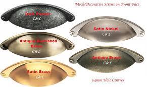 Cup Handles Pulls Kitchen Cabinet Door Drawer Shaker 64mm Cup Pulls