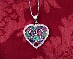 multicolor heart pendant