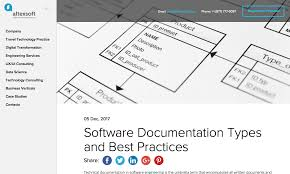 Software Documantation Software Documentation Types And Best Practices Altexsoft