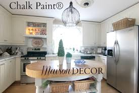 chalk paint kitchen cabinetsMaison Decor Painting Kitchen Cabinets with Chalk Paint by Annie