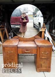 vintage art deco furniture. Vintage Art Deco Vanity Before Makeover By Larissa Of Prodigal Pieces   Prodigalpieces.com Furniture .