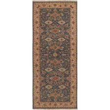 rochester blue 4 ft x 10 ft runner rug