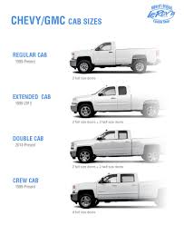 Cab Size Guide for GMC/Chevy Pickups   Leroys Customs