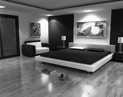 Black Furniture Bedroom Ideas White Stripes Bed Cover White Modern ...