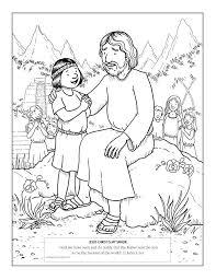 Jesus Loves Children Coloring Page Loves The Little Children