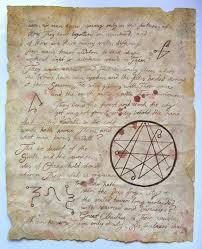 a page from the necronomicon occult rpg and lovecraft cthulhu