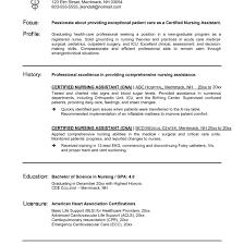 Cna Resume Sample Spectacular Cna Resume Example Free Career