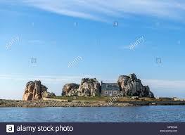 house between two rocks le gouffre du castel meuru plougrescant near treguier cote de granit rose brittany france